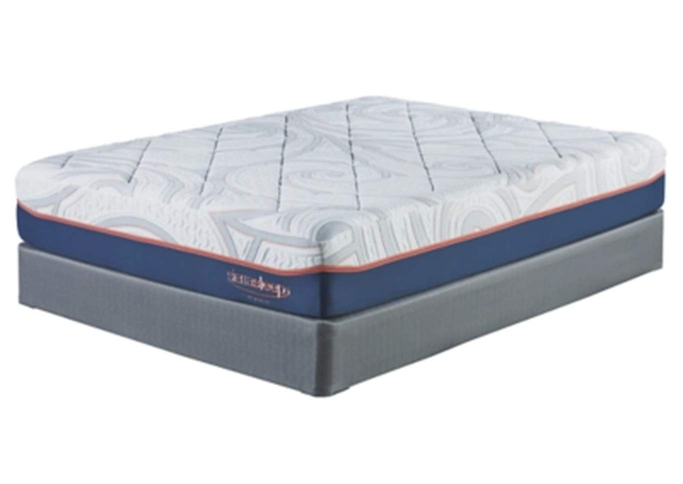 12 Inch MyGel White King Mattress w/Foundation,Sierra Sleep by Ashley