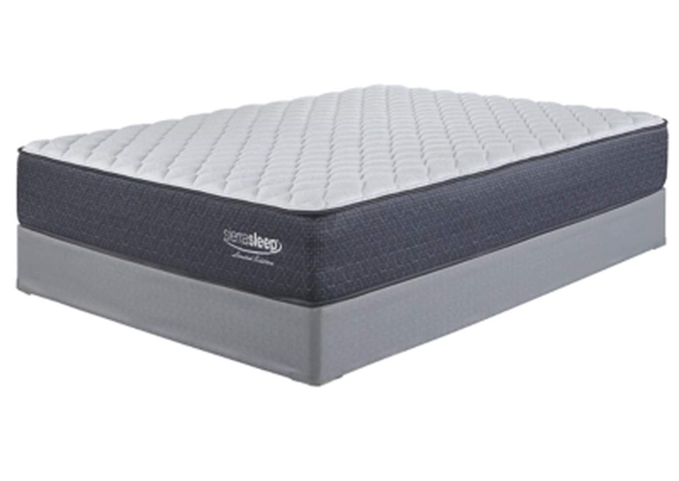 Limited Edition Firm White Queen Mattress w/Foundation,Sierra Sleep by Ashley