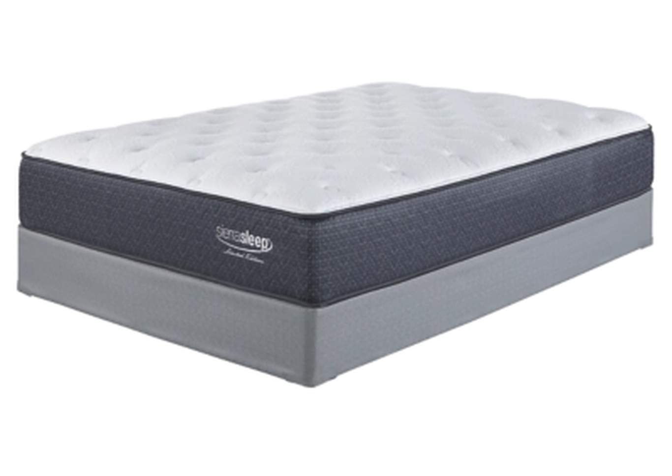 Limited Edition Plush White King Mattress w/Foundation,Sierra Sleep by Ashley