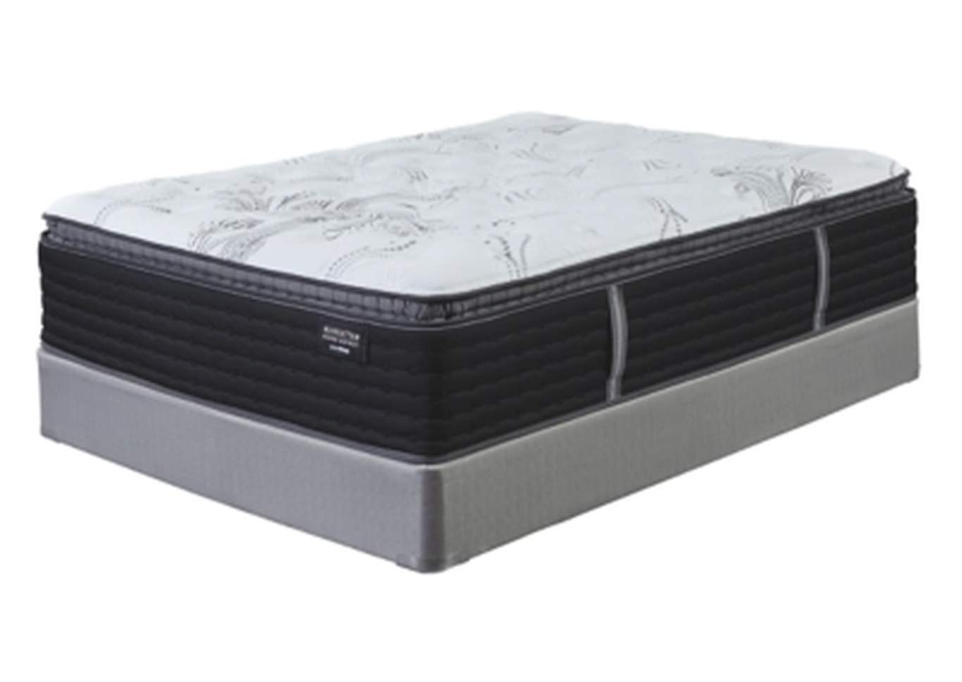 Manhattan Design District Firm Pillowtop White King Mattress w/Foundation,Sierra Sleep