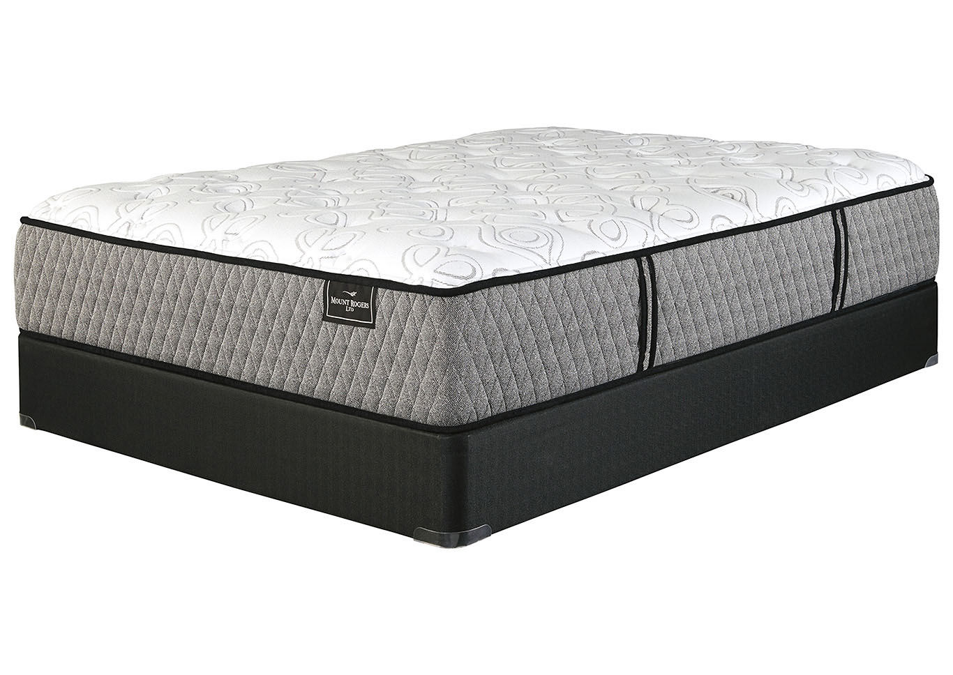 Mt. Rogers Limited Plush White California King Mattress w/Foundation,Sierra Sleep by Ashley