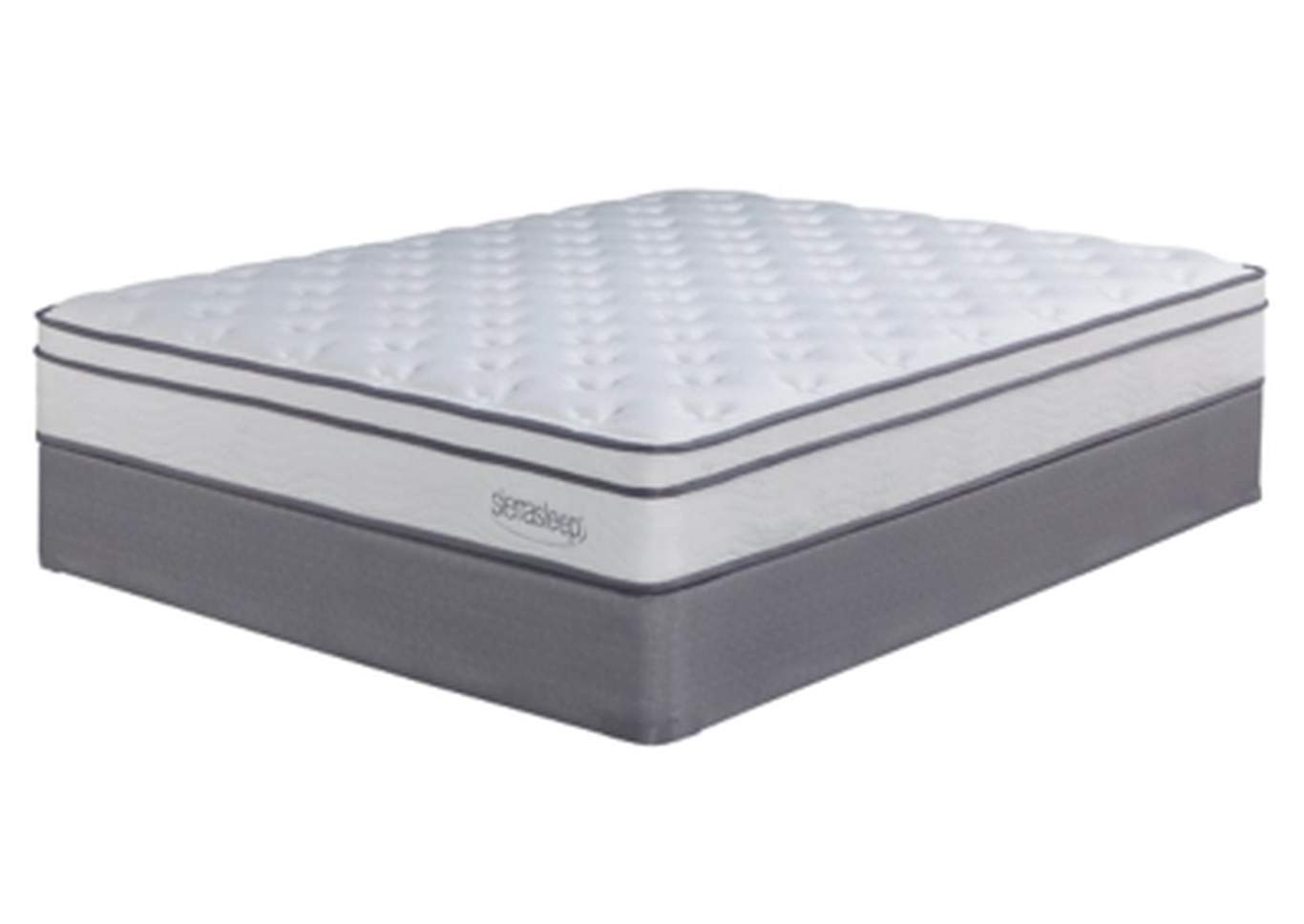 Longs Peak Limited White California King Mattress w/Foundation,Sierra Sleep by Ashley