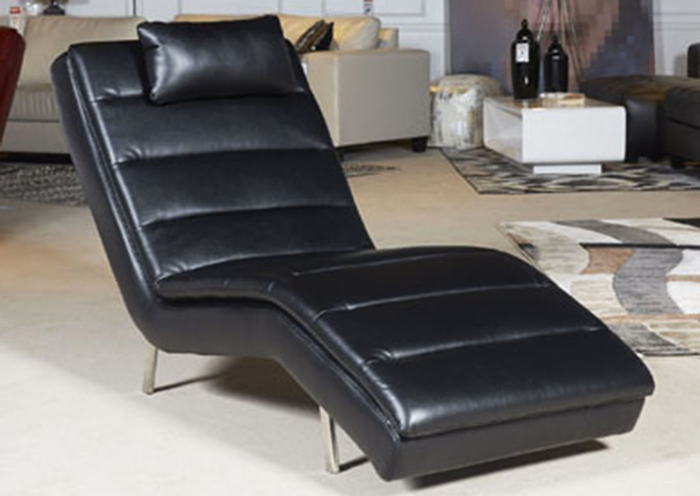 Goslar Black Chaise,Signature Design By Ashley