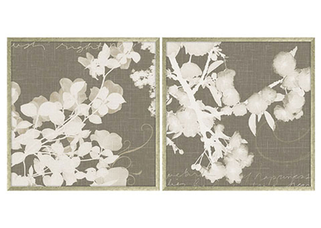 Baibre Cream/Taupe Wall Art Set (Set of 2),Signature Design by Ashley