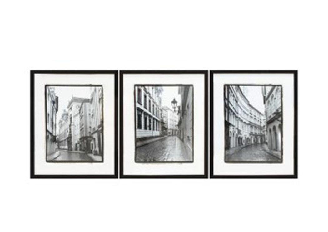 America\'s Wholesale Furniture Club Dorcas Black/White Wall Art Set