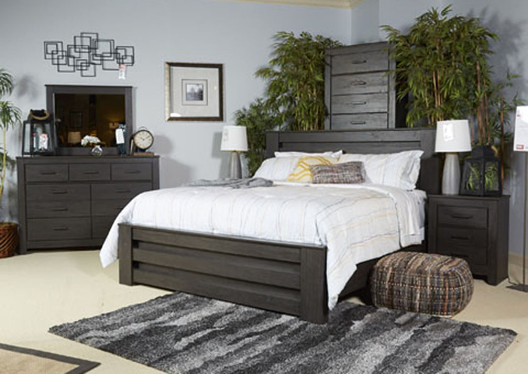 Brinxton Black Queen Poster Bed,Signature Design by Ashley