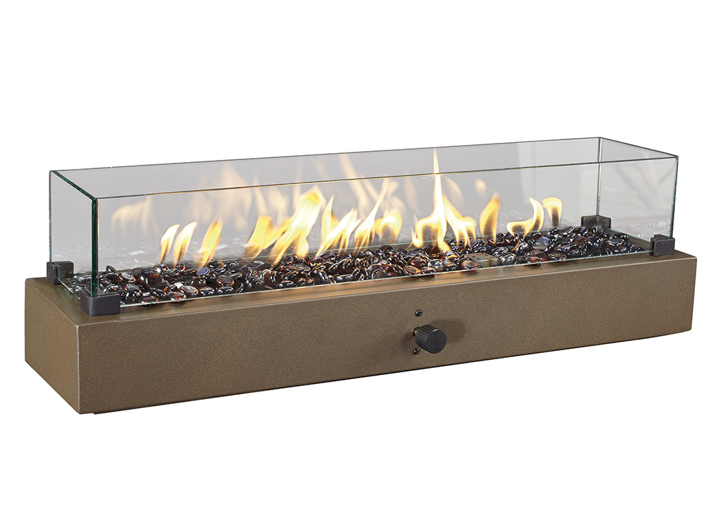 Hatchlands Brown Table Top Fire Bowl,Outdoor By Ashley