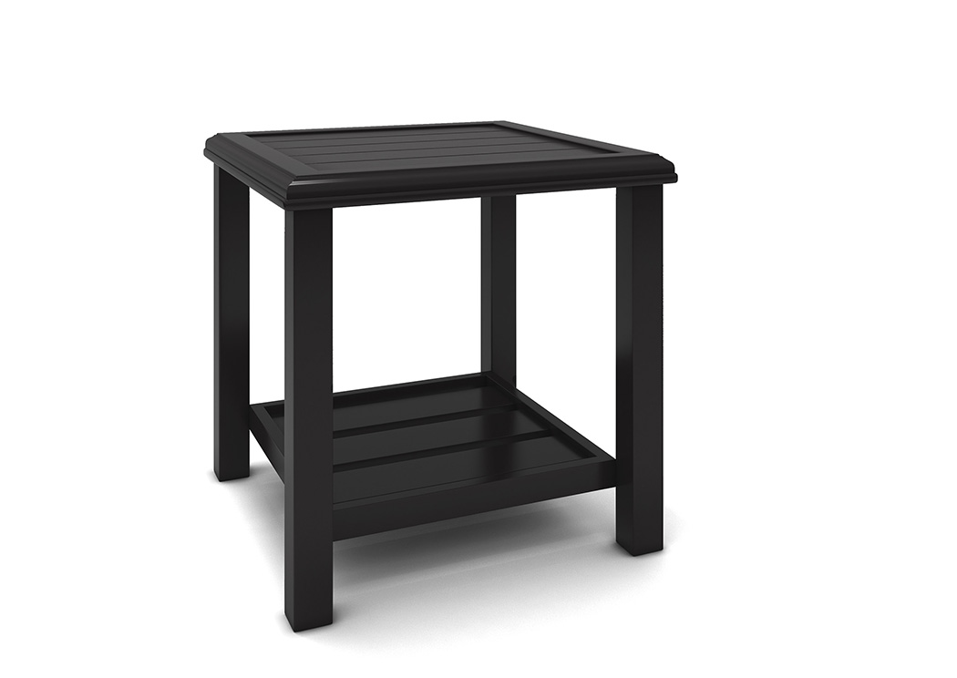 Castle Island Dark Brown Square End Table,Outdoor By Ashley