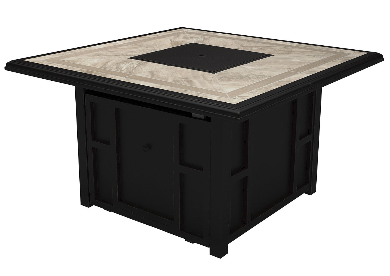 Chestnut Ridge Brown Square Fire Pit Table,Outdoor By Ashley