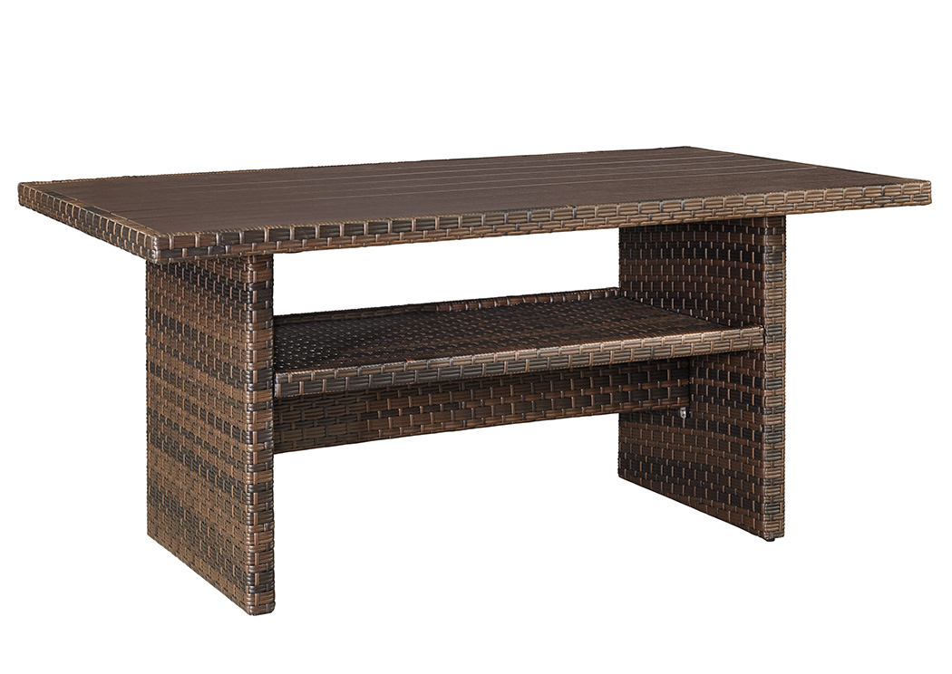 Salceda Wicker Coffee/Dining Table,Outdoor By Ashley
