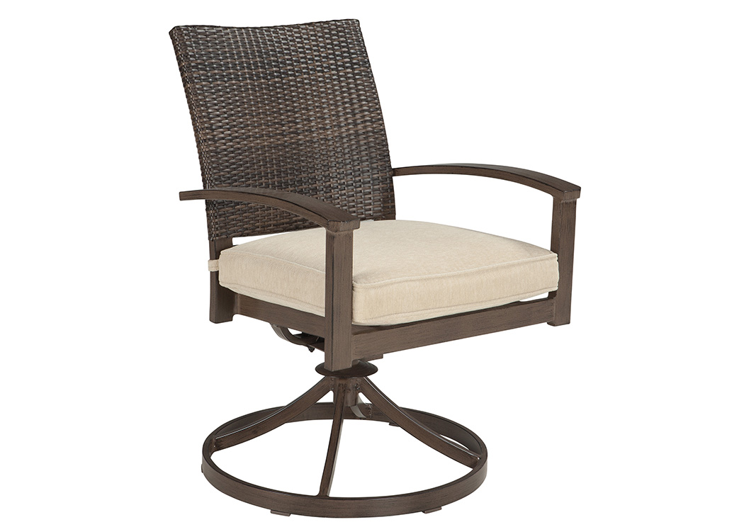 Moresdale Brown Swivel Chair w/Cushion (Set of 2),Outdoor By Ashley