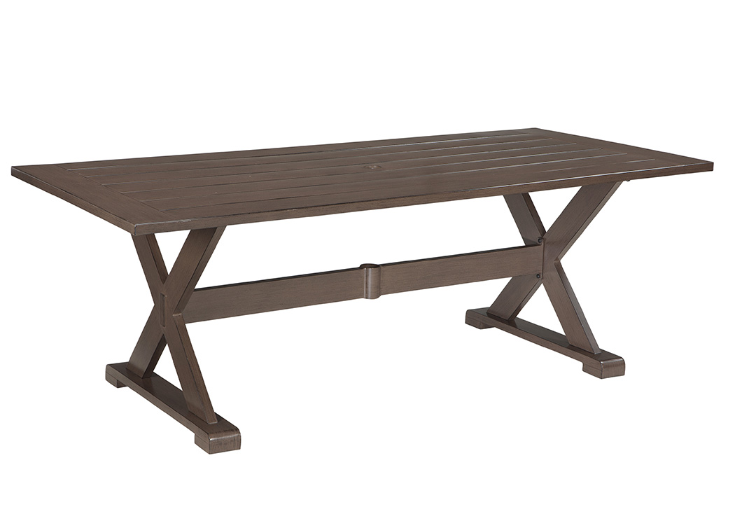 Moresdale Brown Rectangular Dining Table,Outdoor By Ashley