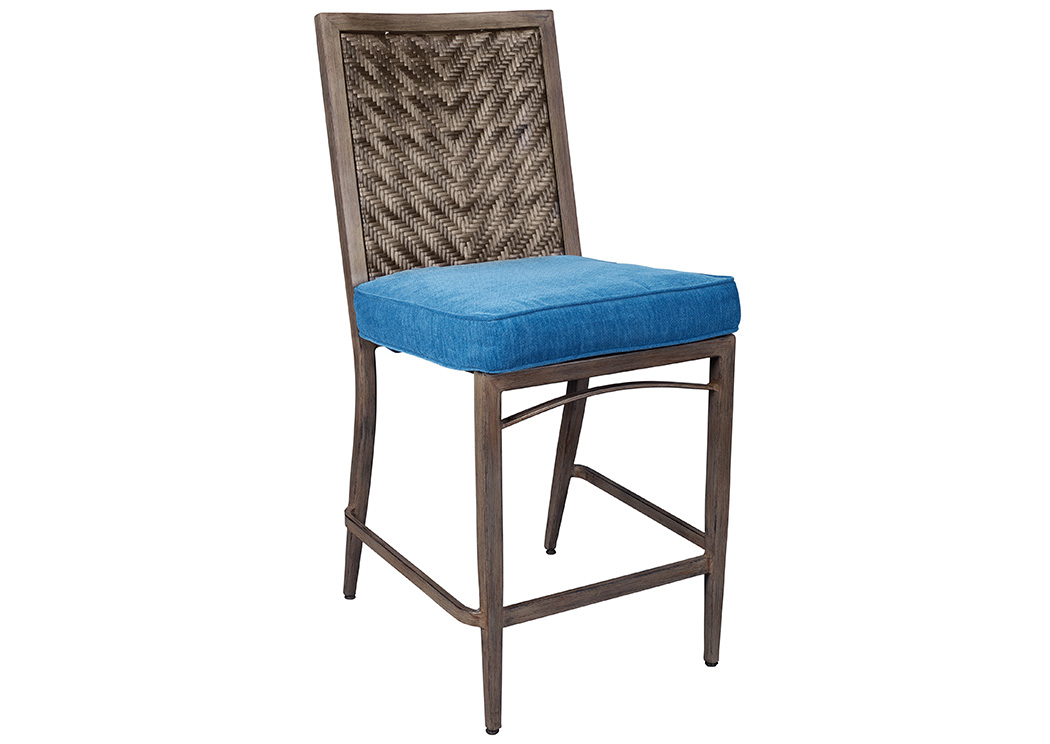 Outdoor. Lifestyle Furniture Home Store Partanna Blue Beige Barstool w