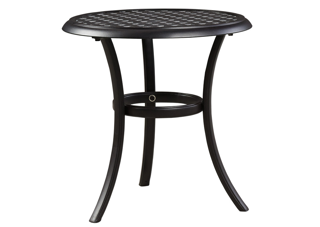 Tanglevale Burnt Orange Round End Table,Outdoor By Ashley