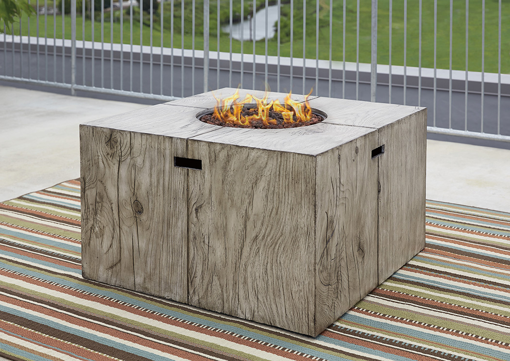 Peachstone Square Fire Pit Table,Outdoor By Ashley