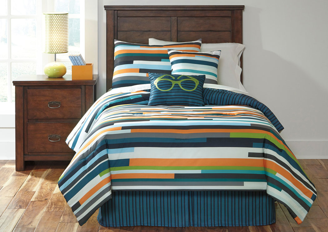 Seventy Stripe Twin Top of Bed Set,Signature Design by Ashley