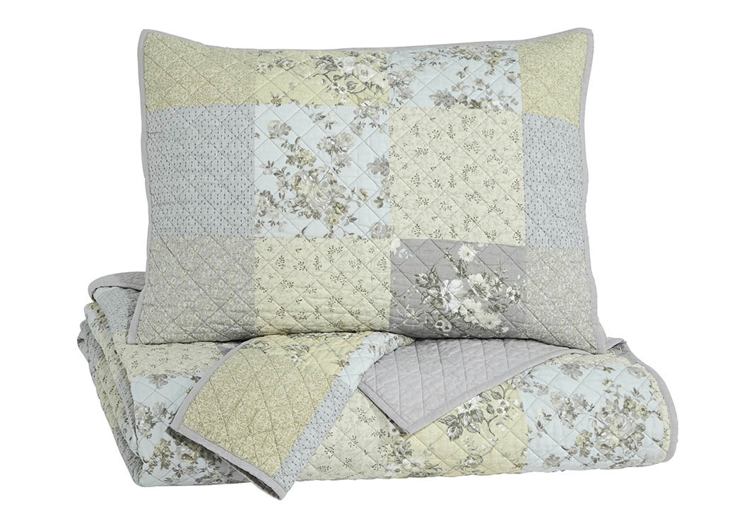 Damani Multi King Quilt Set,Signature Design by Ashley