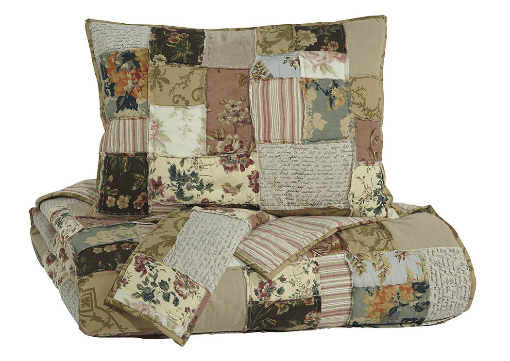 Damalis Multi Queen Quilt Set,Signature Design By Ashley