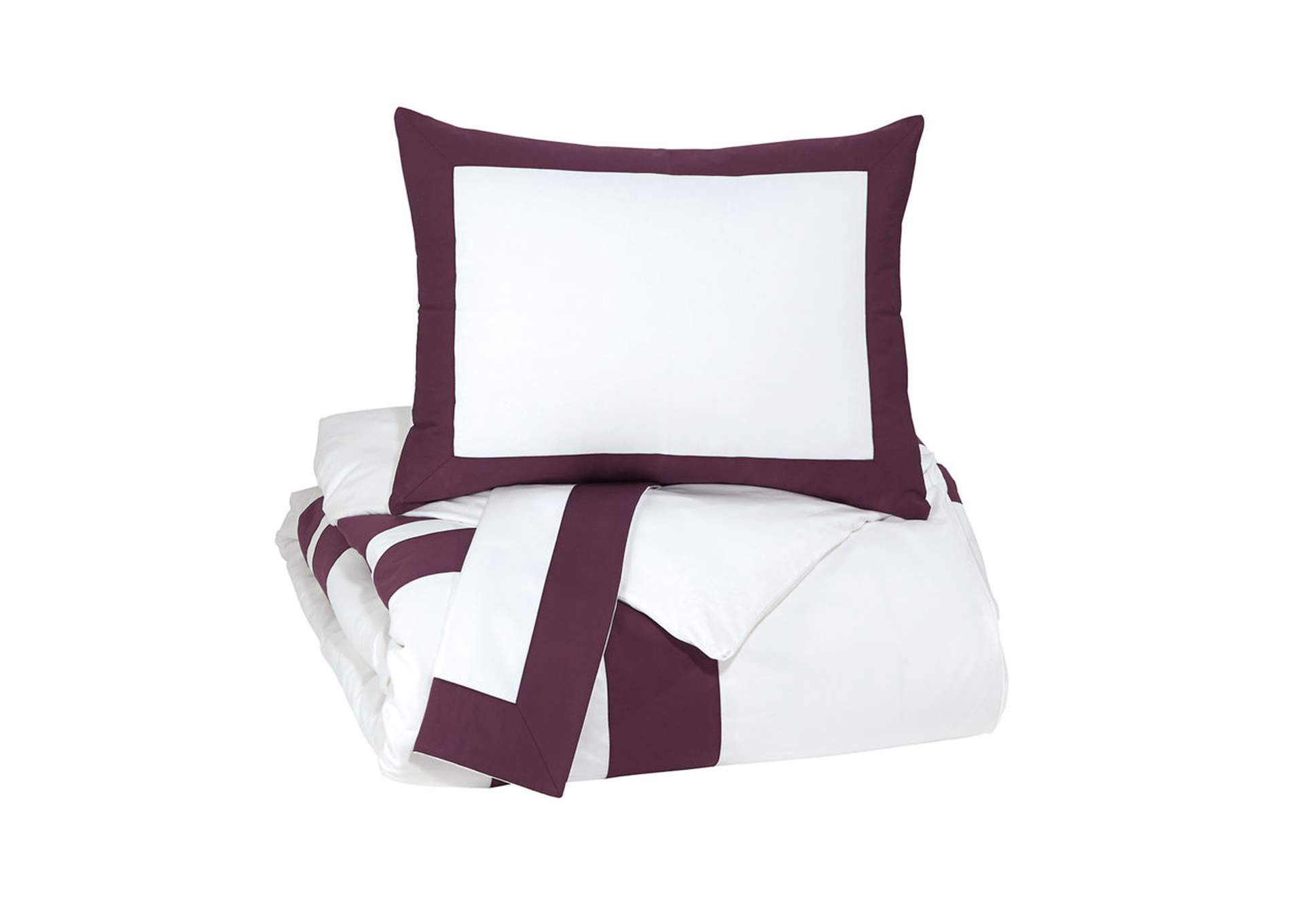 Daruka Plum King Duvet Cover Set,Signature Design By Ashley