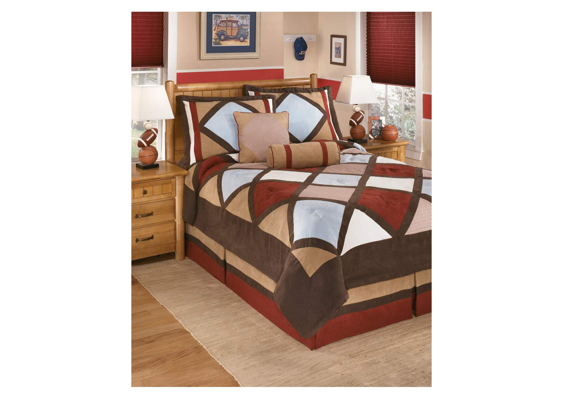 Academy Multi Full Top of Bed Set,48 Hour Quick Ship