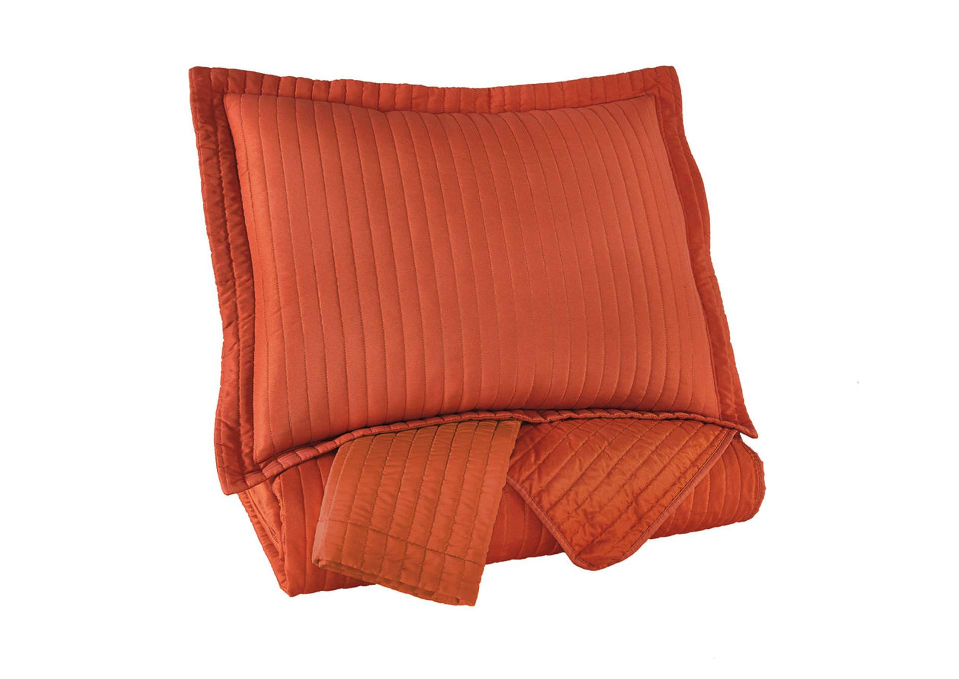 Raleda Orange Queen Coverlet Set,ABF Signature Design by Ashley