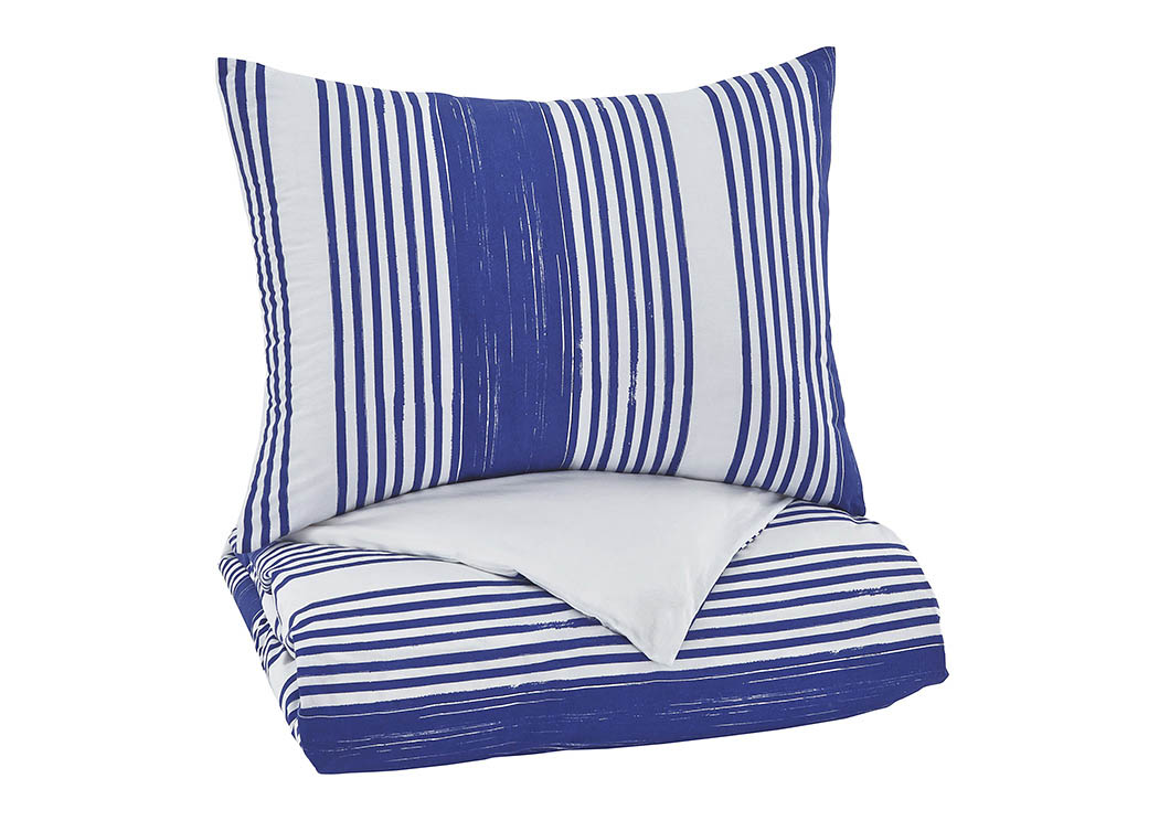 Taries Blue Twin Duvet Cover Set,Signature Design By Ashley