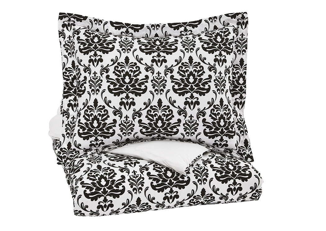 Alano Black Twin Duvet Cover Set,Signature Design By Ashley