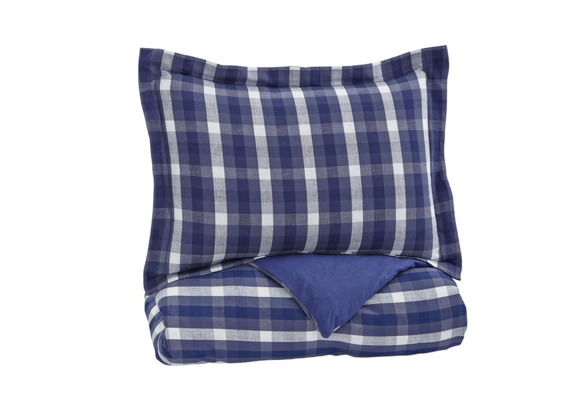 Baret Blue Twin Duvet Cover Set,Signature Design by Ashley