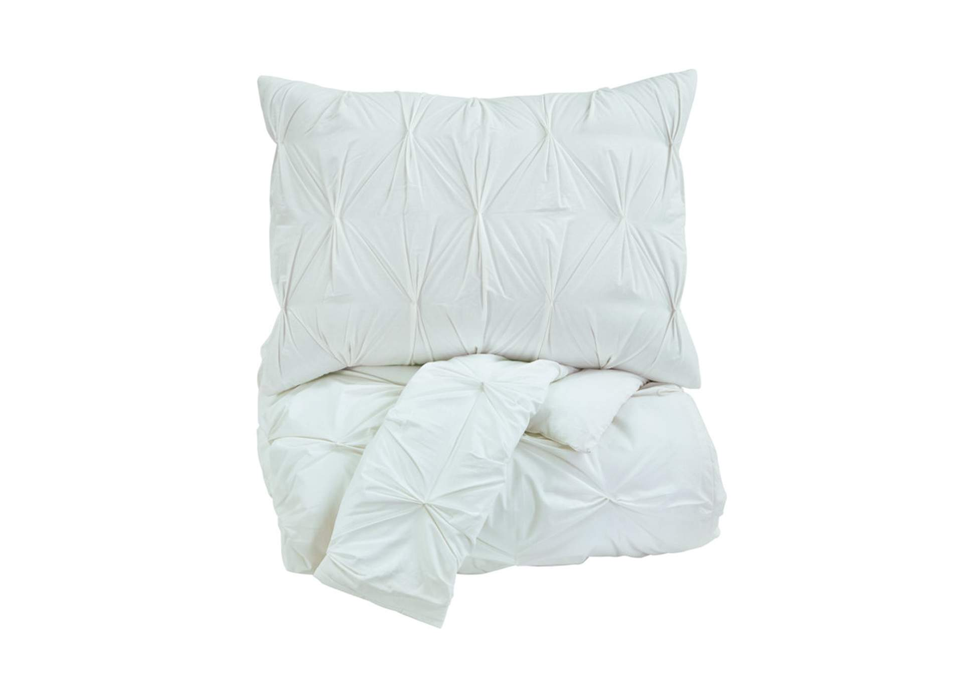 Rimy White King Comforter Set,Signature Design By Ashley