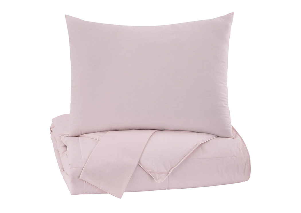 Plainfield Soft Pink Full Comforter Set,Signature Design by Ashley