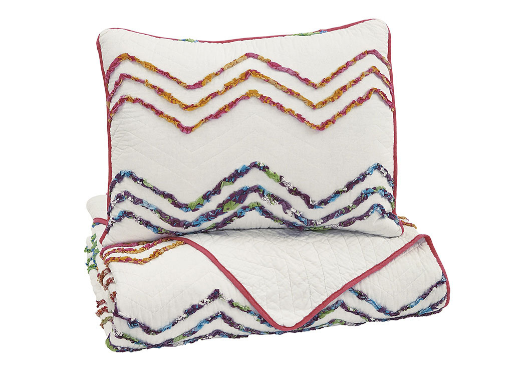 Lacentera Multi Twin Quilt Set,Signature Design By Ashley