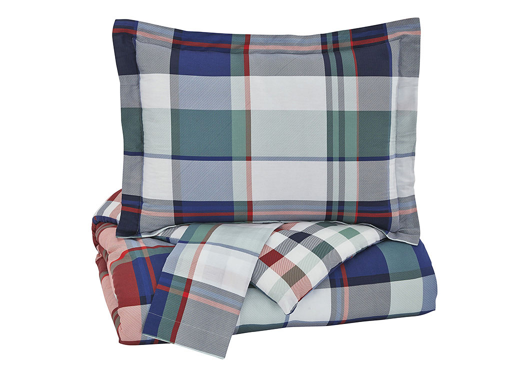 Mannan Plaid Full Comforter Set,Signature Design By Ashley
