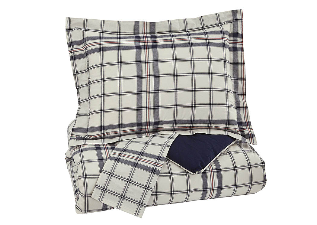 Derick Plaid Full Comforter Set,Signature Design by Ashley