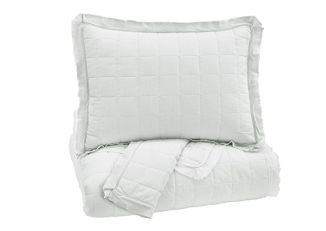 Amare White King Coverlet Set,Signature Design by Ashley