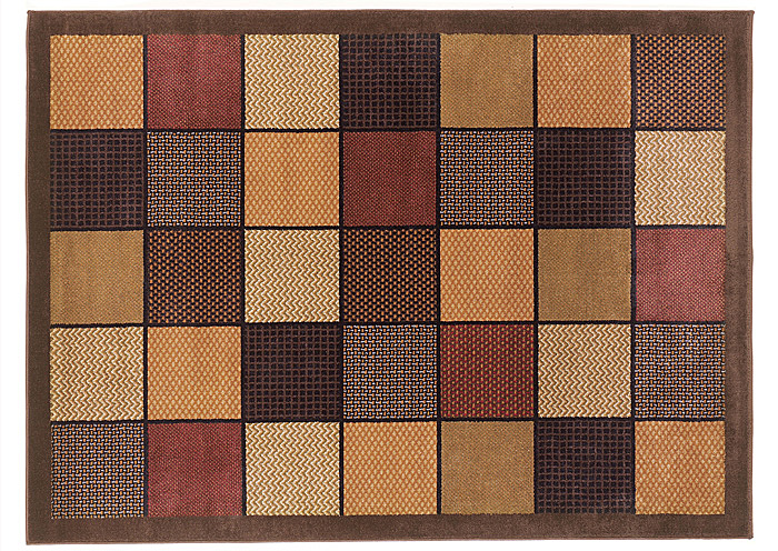 Patchwork Brown Medium Rug,ABF Signature Design by Ashley