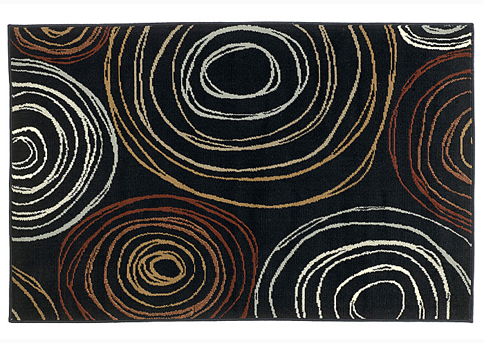 Suri Black & Red Medium Rug,Signature Design by Ashley