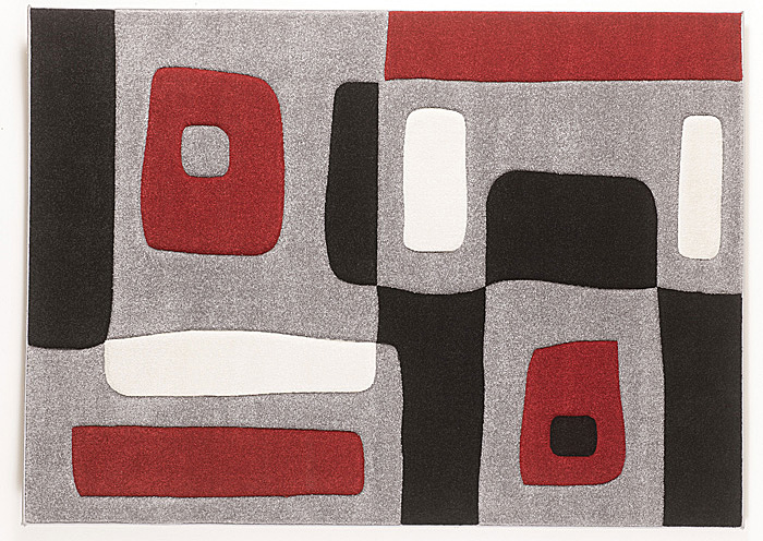 Red/Black/Gray Geo Medium Rug,Signature Design By Ashley
