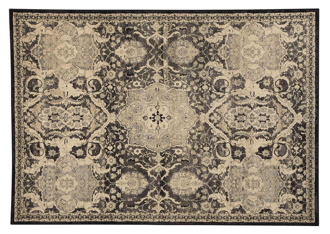 Anzhell Black Medium Rug,Signature Design by Ashley