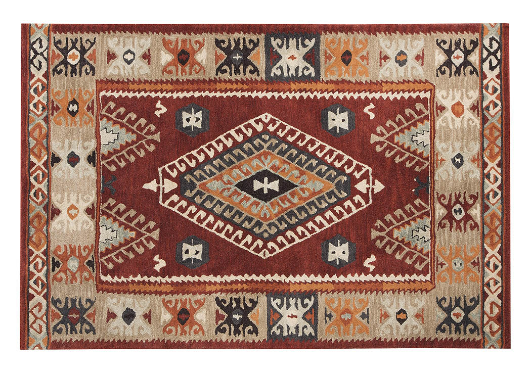 Oisin Brick Large Rug,Signature Design by Ashley