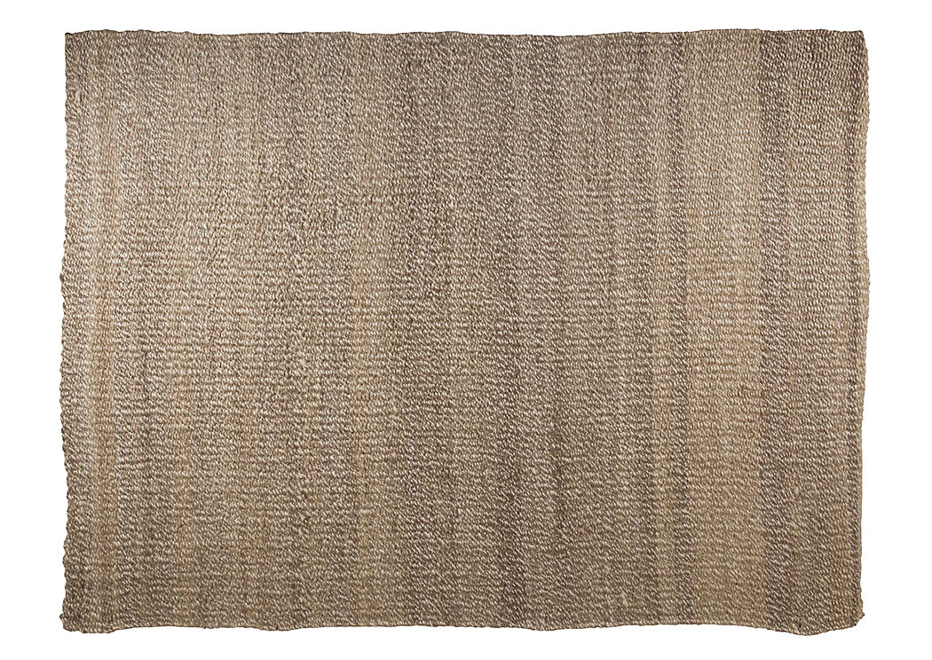 Textured Tan/White 96'' x 120'' Rug ,Signature Design by Ashley