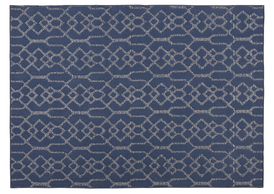 Coulee Blue Medium Rug,Signature Design By Ashley