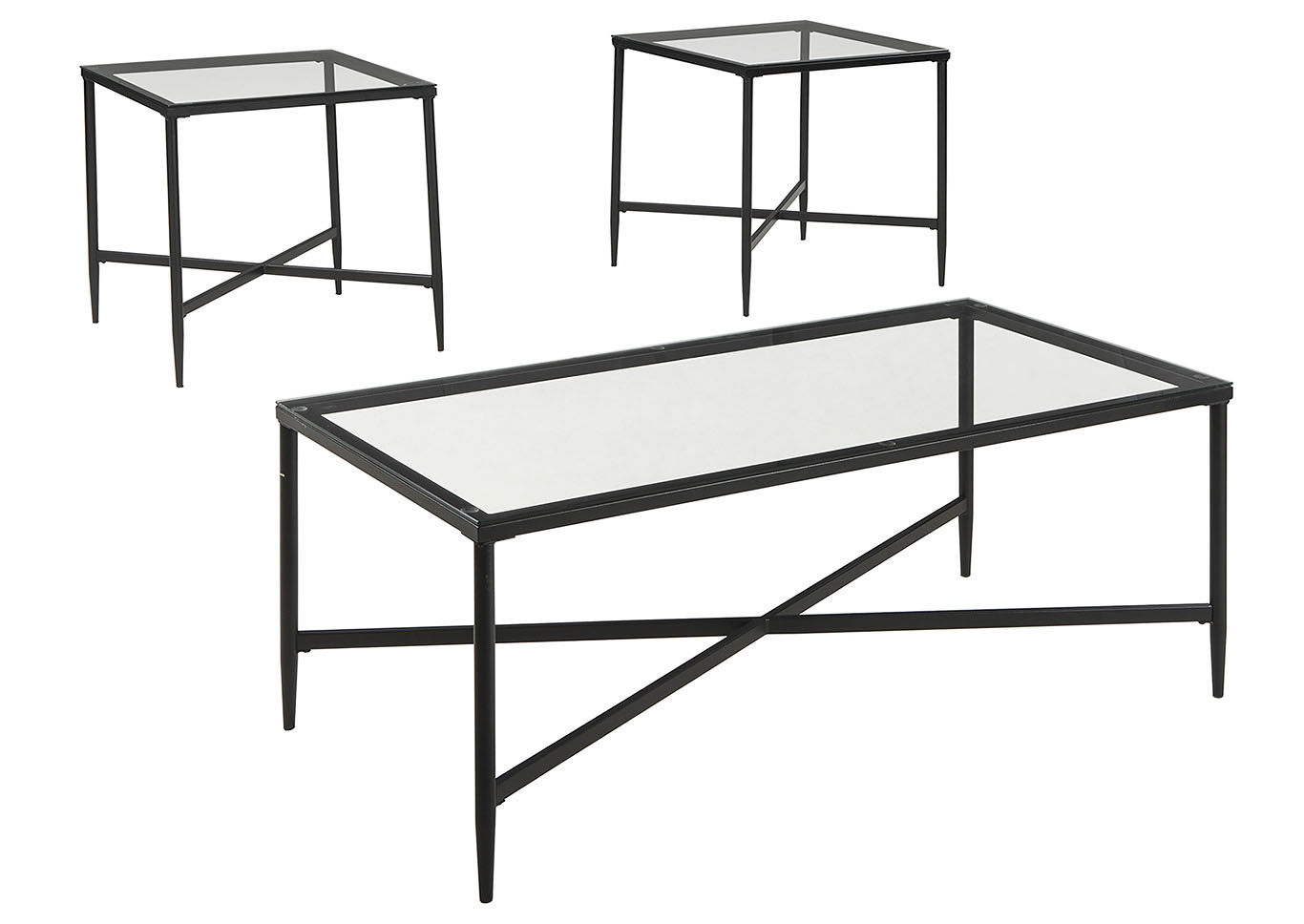 Augeron Black Occasional Table Set,Signature Design By Ashley
