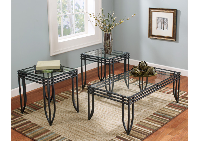 Exeter Occasional Table Set (Cocktail & 2 Ends),Signature Design By Ashley