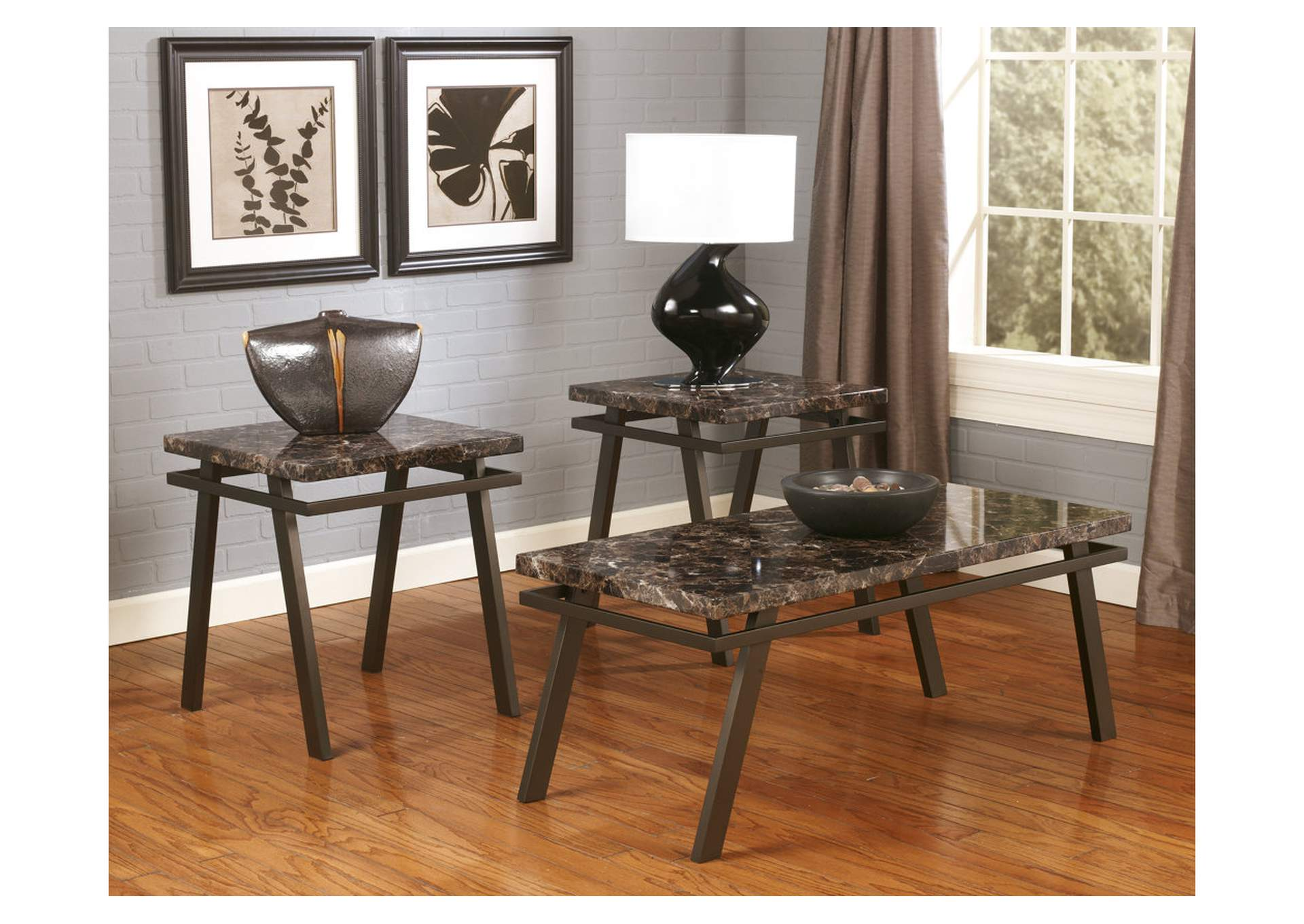 Paintsville Occasional Table Set (Cocktail & 2 Ends),Signature Design By Ashley