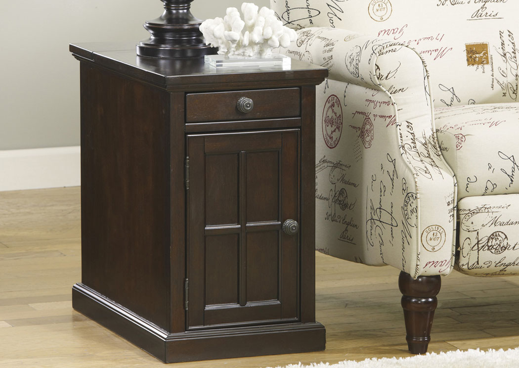 Dark Brown Power Chairside End Table,Signature Design By Ashley