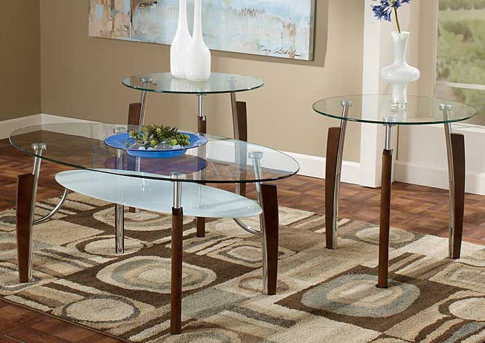 Avani Occasional Table Set (Cocktail & 2 Ends),Signature Design by Ashley