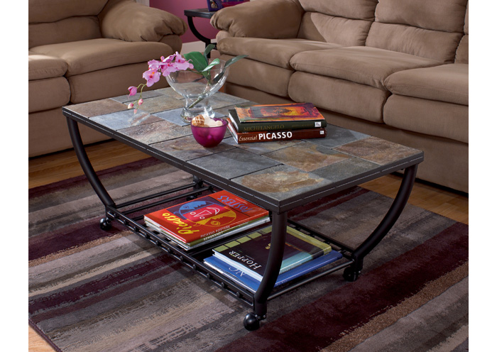 Antigo Rectangular Cocktail Table w/ Casters,ABF Signature Design by Ashley