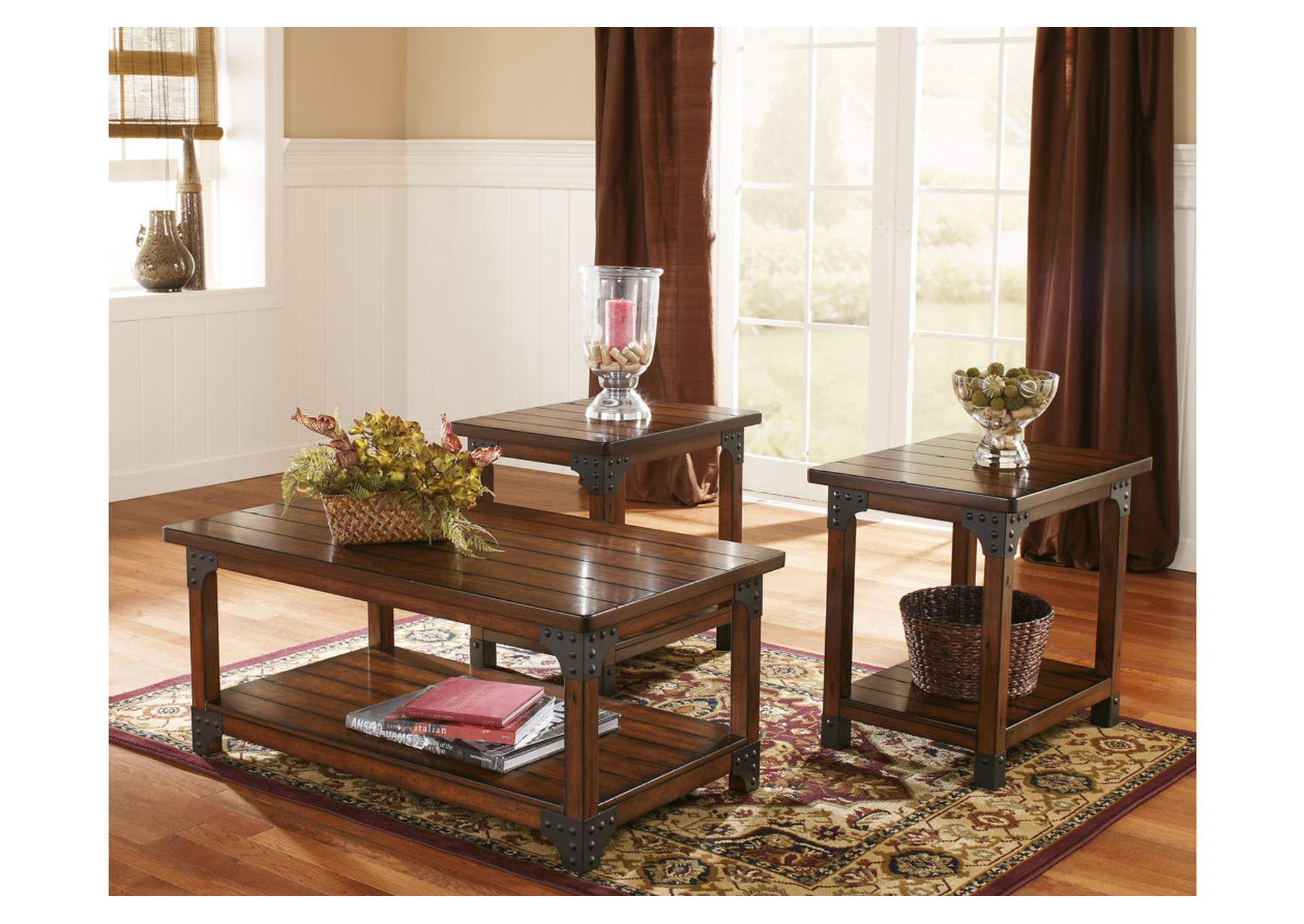 Murphy Occasional Table Set (Cocktail U0026 2 Ends)