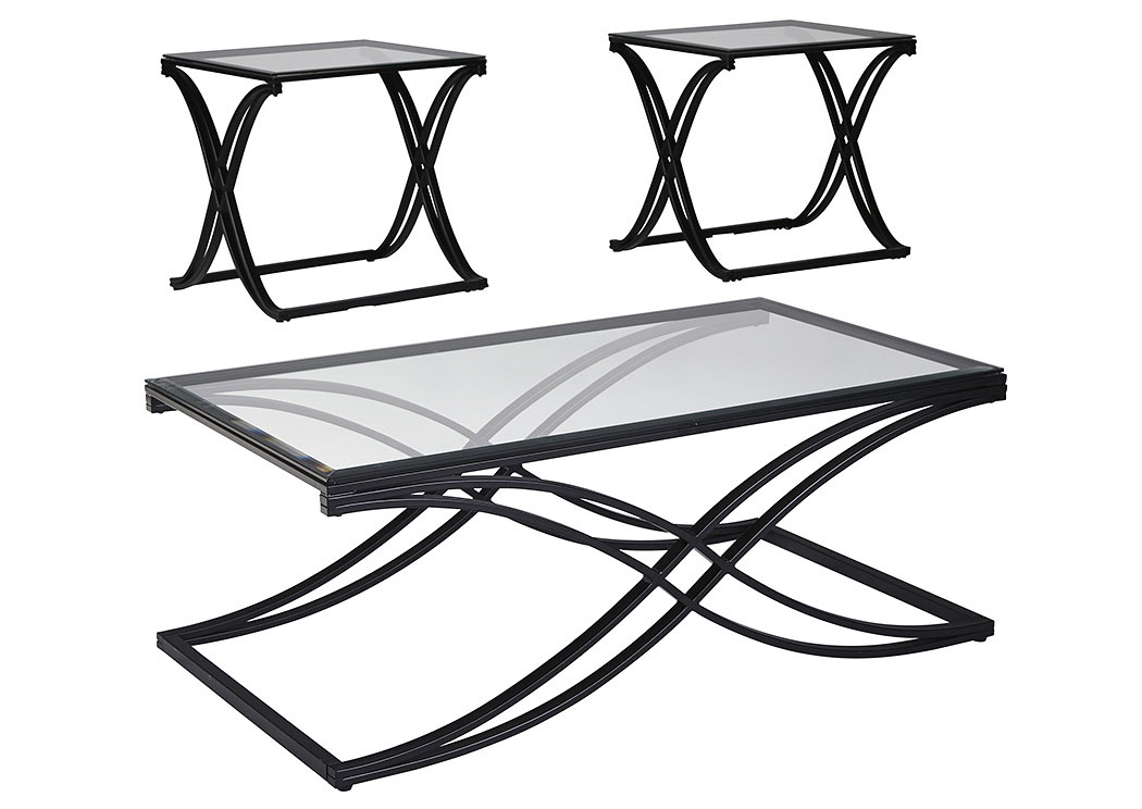 Jandor Black Occasional Table Set,Signature Design By Ashley