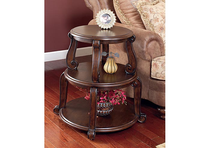 Brookfield Drum Table,Signature Design By Ashley